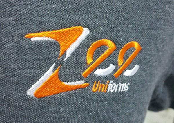 Thêu áo đồng phục tại Bình Dương logo Zeeuni.