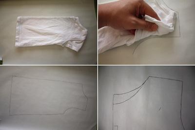Thiết kế và may cắt áo thun trên giấy.